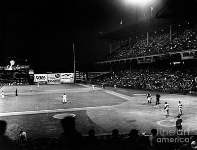 Ebbets Field Photograph - Ebbets Field, 1957 by Granger