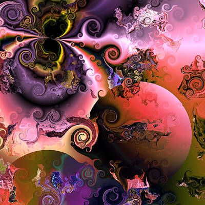 Contemporary Abstract Digital Art - Ebullient Color by Claude McCoy