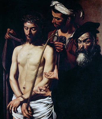 Devotional Painting - Ecce Homo, 1605 by Caravaggio
