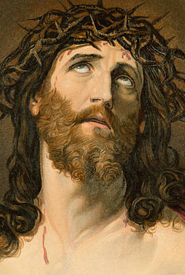 New Testament Drawing - Ecce Homo by William Dickes