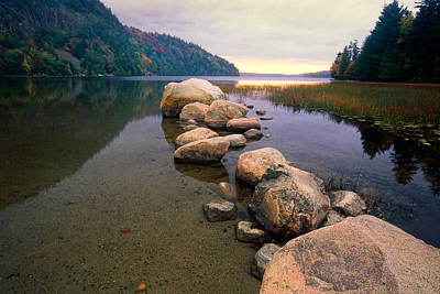 Maine Mountains Photograph - Echo Lake Sunset by George Oze