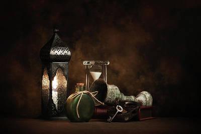 Vintage Lamp Photograph - Eclectic Ensemble by Tom Mc Nemar