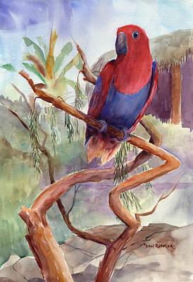 Ressler Painting - Eclectus by John Ressler