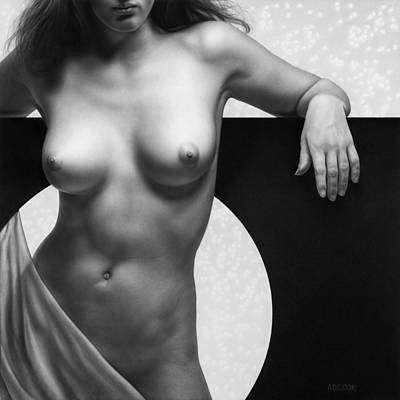 Painting - Eclipse In Shades Of Gray by AD Cook