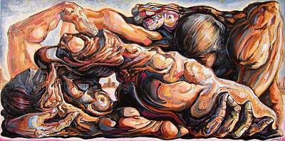 Contemporary Surrealism Drawing - Ecstasy Maximus  by Darwin Leon