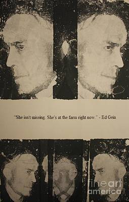 Ed Gein  Print by Michael Kulick