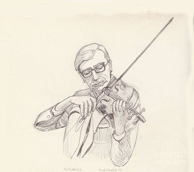 Ed Rudnick - Violin Print by Fred Jinkins