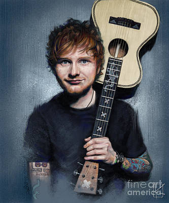 Singer Drawing - Ed Sheeran by Andre Koekemoer
