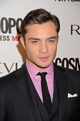 At Arrivals Photograph - Ed Westwick At Arrivals by Everett