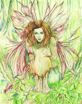 Fantasy Fairy Art Painting - Edana The Fairy Collection by Morgan Fitzsimons