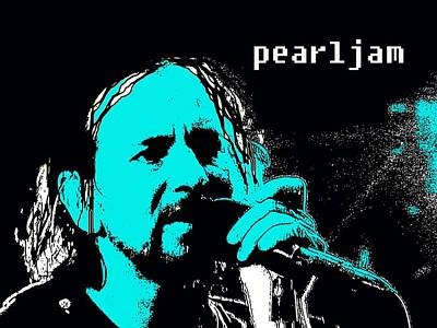 Pearl Jam Digital Art - Eddie by Everette McMahan jr