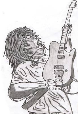 Van Halen Drawing - Eddie V by Mike Naze