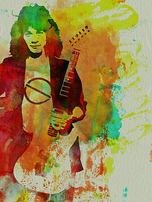 Van Halen Mixed Media - Eddie Van Halen by Naxart Studio