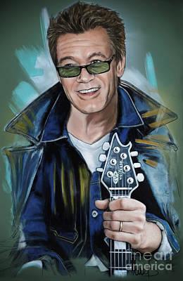 Van Halen Pastel - Eddie Van Halen by Melanie D
