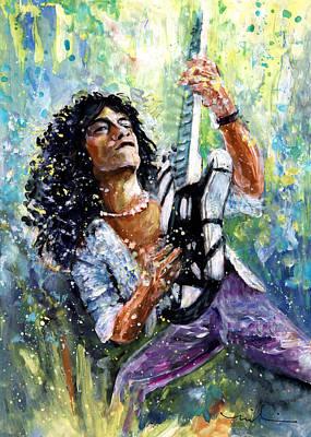 Van Halen Painting - Eddie Van Halen by Miki De Goodaboom