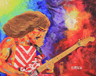 Taylor Swift Painting - Eddie Van Halen by Robert Kirsch