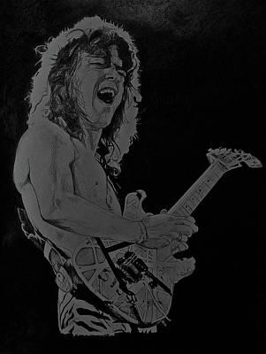 Van Halen Drawing - Eddie Vanhalen by Darryl Mallanda