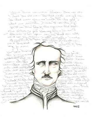 Edgar Allan Poe Print by Heather Henry