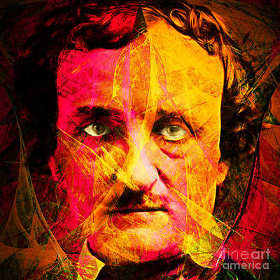 Haunted Digital Art - Edgar Allan Poe The Eyes Of The Ravens 20160423 Square by Wingsdomain Art and Photography