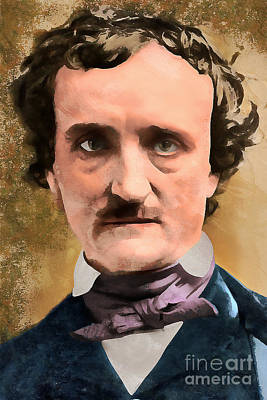 Haunted Digital Art - Edgar Allan Poe The Raven 20160420 Wcstyle by Wingsdomain Art and Photography
