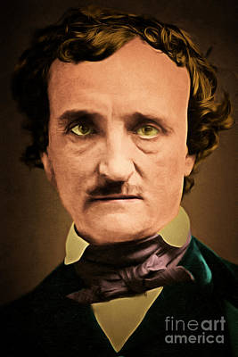 Haunted Digital Art - Edgar Allan Poe The Raven 20160420 by Wingsdomain Art and Photography