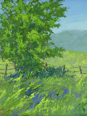 Spring Landscape Painting - Edge Of Spring by David King