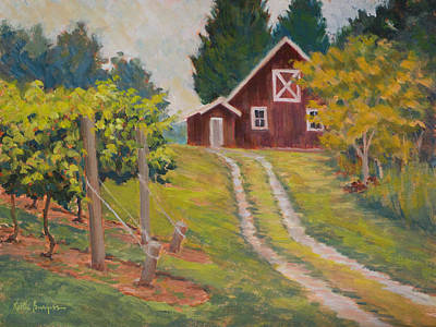 Edge Of The Vineyard Print by Keith Burgess