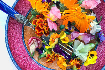 Edible Flowers Print by June Marie Sobrito