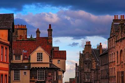 Red Roof Photograph - Edinburgh Fairytale by Jenny Rainbow