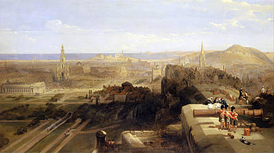 David Roberts Painting - Edinburgh From The Castle by David Roberts