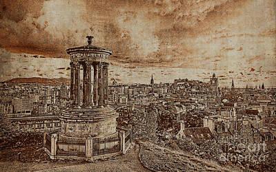 London Painting - Edinburgh Scotland 01n by Gull G