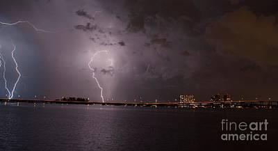 Lightning Photograph - Edison Bridge Nights by Quinn Sedam