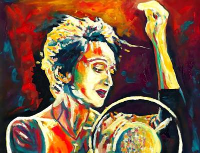 Torch Painting - Edith Piaf- La Mome by Vel Verrept
