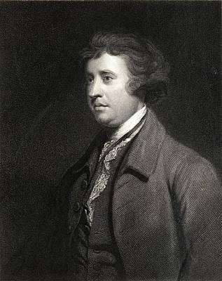 Orator Drawing - Edmund Burke 1729-1797. British by Vintage Design Pics