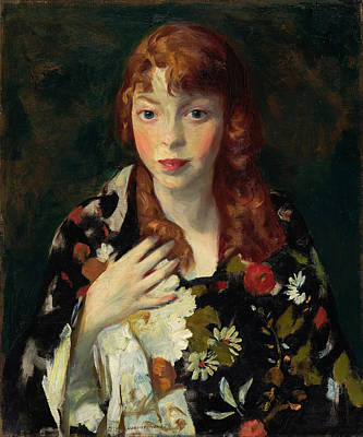 Robert Henri Painting - Edna Smith In A Japanese Wrap by Robert Henri