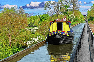 Stratford Mixed Media - Edstone Aqueduct Stratford Upon Avon Canal by Peter Allen