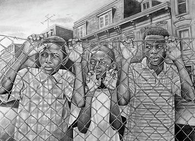 Fence Drawing - Education Is The Way Out by Curtis James