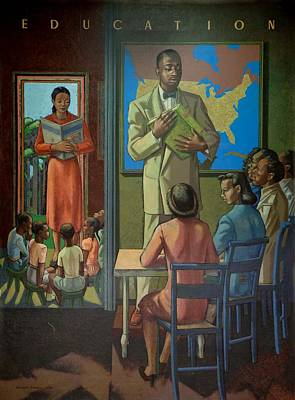 Black History Painting - Education by Millard Owen Sheets