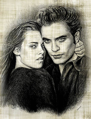 Edward And Bella Version  2 Print by Andrew Read