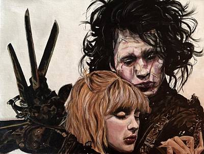 Johnny Depp Painting - Edward And Kim by Joel Tesch