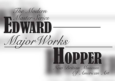 Edward Hopper, Bernard Mt  Original by Leon Gorani