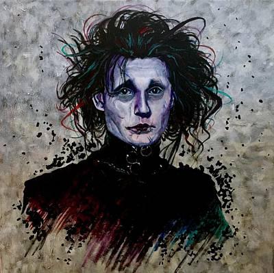Edward Scissorhands Painting - Edward by Joel Tesch