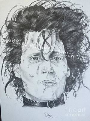 Edward Scissorhands Painting - Edward Scissorhands by Isobelle Rothery-Smith