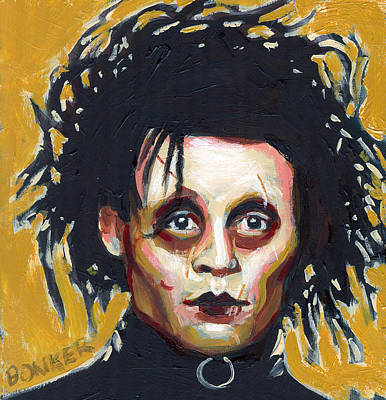 Johnny Depp Painting - Edward Scissorhands by Buffalo Bonker
