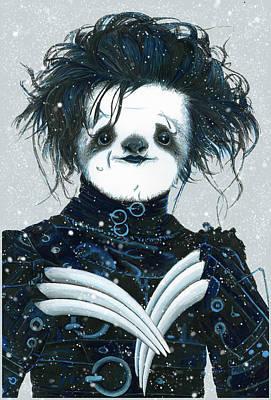 Sloth Drawing - Edward Scissorsloth by Narelle Zeller