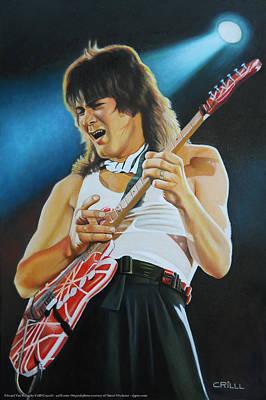 Van Halen Painting - Edward Van Halen by Crilll Cracraft