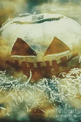 Menacing Photograph - Eerie Ghoulish Halloween Pumpkin Head by Jorgo Photography - Wall Art Gallery