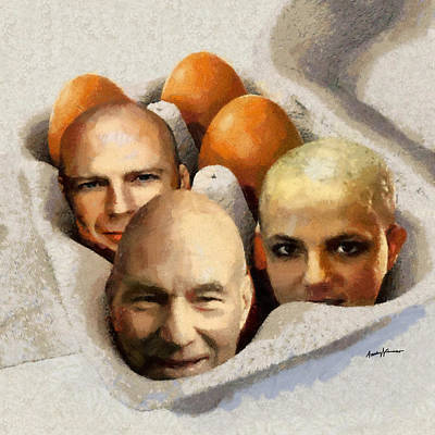 Spear Digital Art - Eggheads by Anthony Caruso