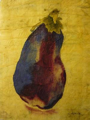Eggplant Study Original by Marcia Mckinzie