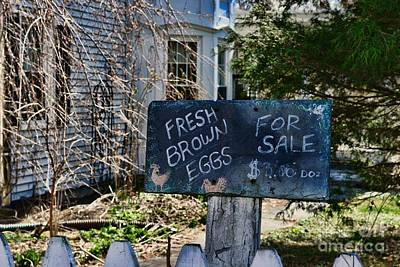 Farm Stand Photograph - Eggs For Sale Country Charm by Paul Ward
